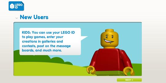 Регистрация на сайте LEGO на второй картинке из анимации.