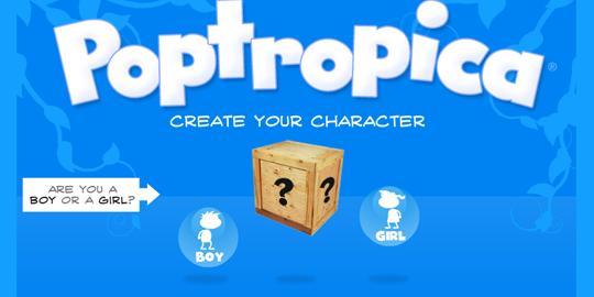 Fig 4. Создание героя на Poptropica.