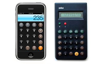 И последний найденный экспонат — это легендарный в германии калькулятор ET66 и калькулятор в Apple