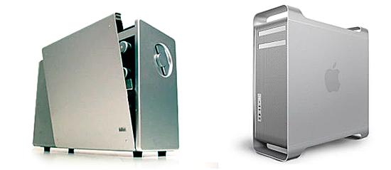 Радиоприемник Braun T1000 (1962 г.) и Mac Pro (2012 г.)