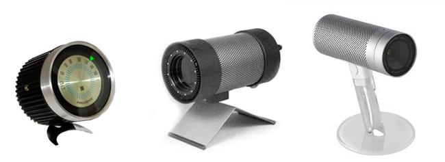Радиоприемник от Panasonic (1960-е г.), Инфракрасный излучатель от Braun и одна из первых веб-камер от Apple (2003 г.)